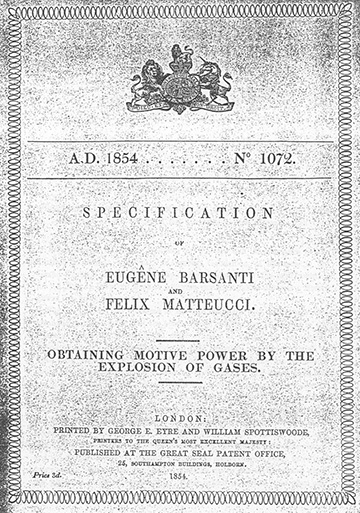 Brevetto Barsanti e Matteucci