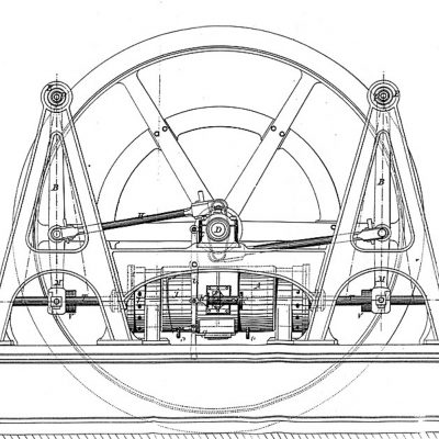 Progetto del secondo motore a stantuffi contrapposti - 1858