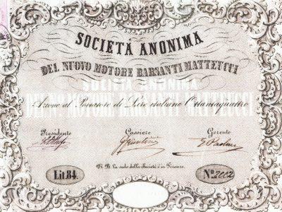 Contratto di costituzione della Società anonima del nuovo motore Barsanti e Matteucci