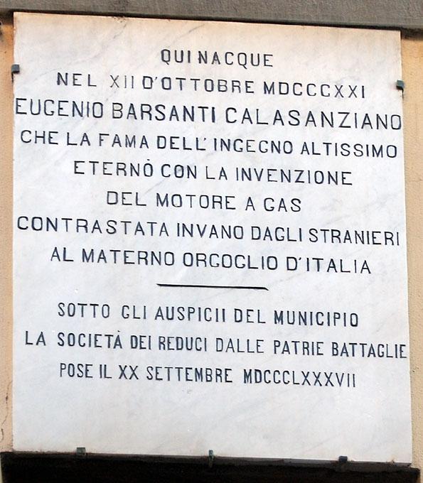 Lapide sulla casa natale di Nicolò Barsanti